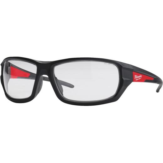 Milwaukee Red & Black Frame High Performance Safety Glasses with Clear Lenses
